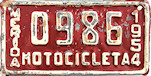 Merida Yucatan Mexico License Plate placa motorcycle motocicleta