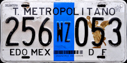 NEZAHUALCOYOTL Transporte Metropolitano Mexico License Plate Placa Edo Mexico DF Distrito Federal CDMX Ciudad Mexico