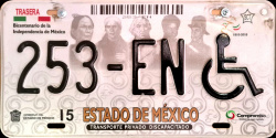 Estado de Mexico License Plate Placa handicapped discapacitados