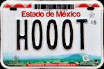 Estado de Mexico License Plate Placa motorcycle motocicleta