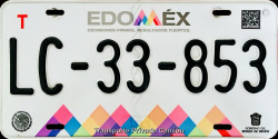Estado de Mexico License Plate Placa truck camion