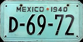 Old Mexico License Plates Placas