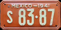 Sonora Mexico License Plate Placa
