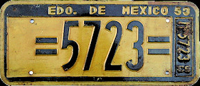 Estado de Mexico License Plate Placa dealer demostracion