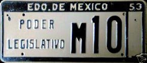 Estado de Mexico License Plate Placa legislature poder legislativo