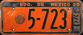 Estado de Mexico License Plate Placa spf