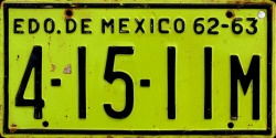Estado de Mexico License Plate Placa commercial truck camion publico