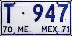 Estado de Mexico License Plate Placa bus autobus