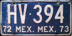 Estado de Mexico License Plate Placa trailer remolque