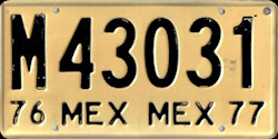 Estado de Mexico License Plate Placa commercial trailer remolque publico