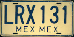 Estado de Mexico License Plate Placa
