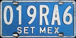 SPF Mexico License Plate Placa tourist bus turismo