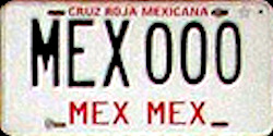 Estado de Mexico License Plate Placa red cross cruce roja