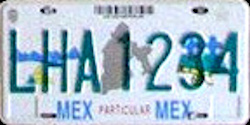 Estado de Mexico License Plate Placa prototype prototipo