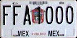 Estado de Mexico License Plate Placa prototype prototipo publico