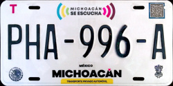 Michoacan Mexico License Plates Placas
