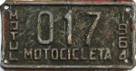 Motul Yucatan Mexico License Plate placa motorcycle motocicleta