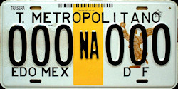 NAUCALPAN Transporte Metropolitano Mexico License Plate Placa Edo Mexico DF Distrito Federal CDMX Ciudad Mexico