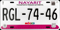 Nayarit Mexico License Plates Placas