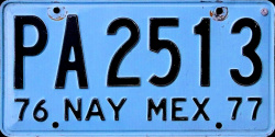 Nayarit Mexico License Plate Placa truck camion