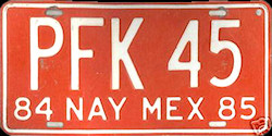 Nayarit Mexico License Plate Placa commercial truck camion publico