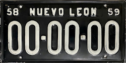 Nuevo Leon Mexico License Plate Placa prototype prototipo