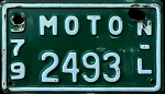 Nuevo Leon Mexico License Plate Placa motorcycle motocicleta