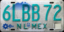 Nuevo Leon Mexico License Plate Placa bus autobus