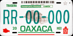 Oaxaca Mexico License Plate Placa prototype prototipo