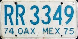 Oaxaca Mexico License Plate Placa truck camion