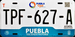 Puebla Mexico License Plates Placas