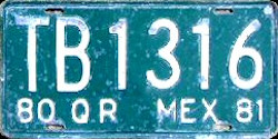 Quintana Roo Mexico License Plate Placa truck camion
