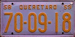 Queretaro Mexico License Plate Placa dealer demostracion