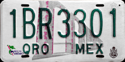 Queretaro Mexico License Plate Placa trailer remolque