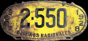 SPF SCOP Mexico License Plate Placa