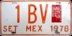 SPF Mexico License Plate Placa turismo