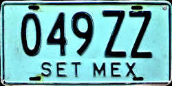 SET Mexico License Plate Placa turismo