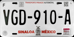 Sinaloa Mexico License Plates Placas