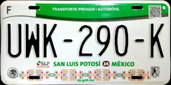 San Luis Potosi Mexico License Plates Placas