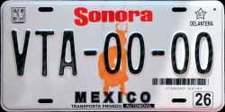 Sonora Mexico License Plate Placa prototype prototipo