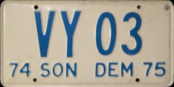 Sonora Mexico License Plate Placa dealer demostracion