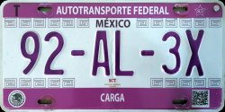SPF SAF Mexico License Plates Placas