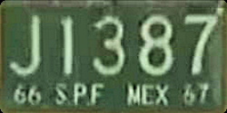 SPF Mexico License Plate Placa truck crage