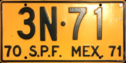 SPF Mexico License Plate Placa truck carga