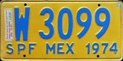 SPF Mexico License Plate Placa