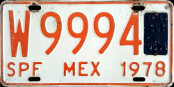 SPF Mexico License Plate Placa trailer remolque