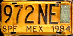 SPF Mexico License Plate Placa bus