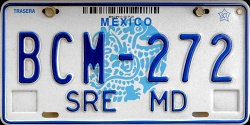 Mexico License Plate Placa diplomatic mission mision diplomatico