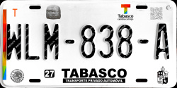 Tabasco Mexico License Plates Placas