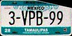Tamaulipas Mexico License Plate Placa bus autobus